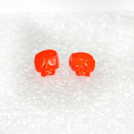 Shiny (orange) Skull earstuds