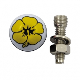 TrikTopz with License Plate Mounts - Valve Caps - Yellow Flowers