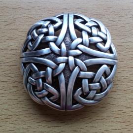 Belt Buckle - 3D - Silver Plated - Celtic Knobs