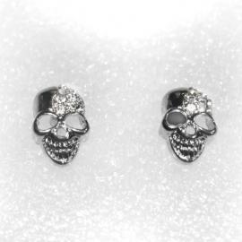 Silver Skull earstuds