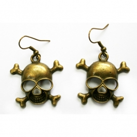 Earrings with Skulls [gold]