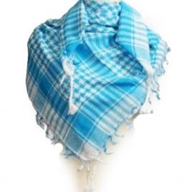 PLO Scarf - Arafat Shawl - Blue & White