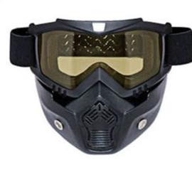 Shark Style Helmet Mask - Full Face -  Yellow