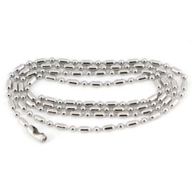 Dog Tag Chain - Silver - Ball Bead
