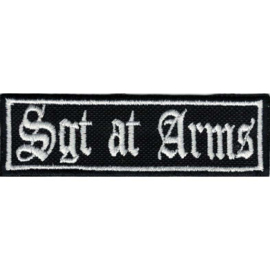WHITE PATCH - STICK - Old English lettertype - SGT AT ARMS