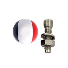 TrikTopz with License Plate Mounts - Valve Caps - French Flag / Dutch Flag - France / the Netherlands