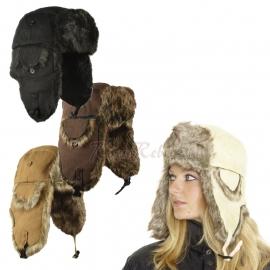 Fur and Canvas Hat - Four Colours
