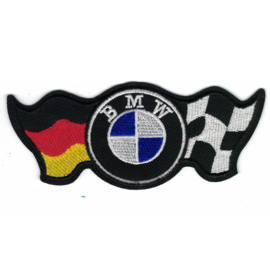 PATCH - BMW logo with GERMAN & RACING FLAGS - DEUTSCHLAND