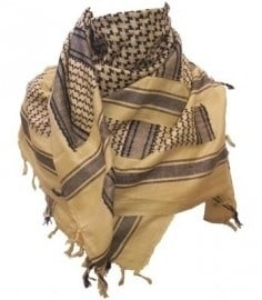 PLO Scarf - Arafat Shawl - Yellow & Black - Sand