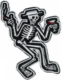 341 - PATCH - Dancing Skeleton - SOCIAL DISTORTION - Smoking Hand Up