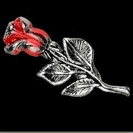 P154 - Large PIN - Red Rose Bud