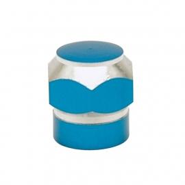 TrikTopz - Valve Caps - Blue Alloy Twotone Hex