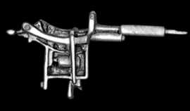 P150 - Large PIN - Tattoo Machine Gun