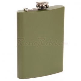 FLASK - Stainless Steel Hipflask - 8 oz / approx. 236ml