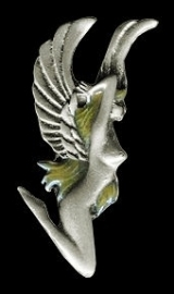P133 - Large PIN - Blonde Angel / Goddess