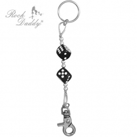 Rock Daddy - Keychain - Two Black Dices