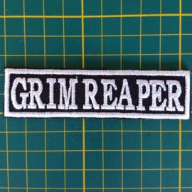 White PATCH - stick / flash  - GRIM REAPER