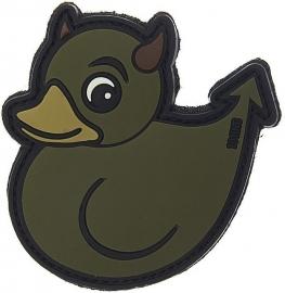 062 - VELCRO/PVC PATCH - Devil Duck (camouflage/green)