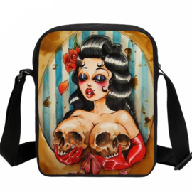 Rock & Roll - Vintage Pin-Up & Skull - shoulder bag
