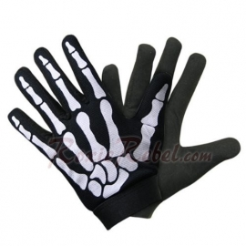 white Skeleton Mechanic gloves