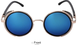 Rebel Sunglasses - Steampunk - Blue - 'Arctic'