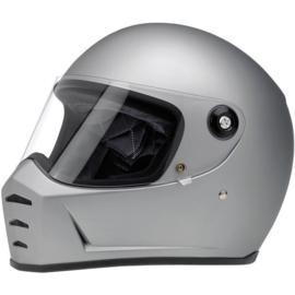 Biltwell - Lane Splitter Helmet - Flat Silver (ECE)