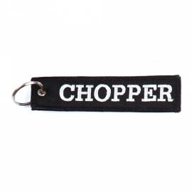 Embroided Keychain - Black & White - CHOPPER