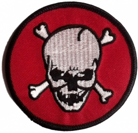 017 - PATCH - ROUND - Skull With Bones