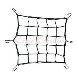 Black Cargo Net with 6 Hooks