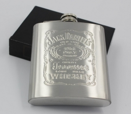 Jack Daniel's - FLASK - Stainless Steel - 7 oz / approx. 207ml