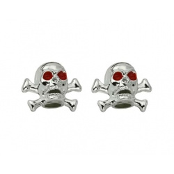 Valve Caps - Chrome Skulls and Bones
