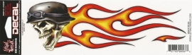 Lethal Threat - Flame Biker Skull - DECAL - STICKER