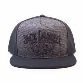 Jack Daniel's - Snapback Cap -  Adjustable - Grey Embroided