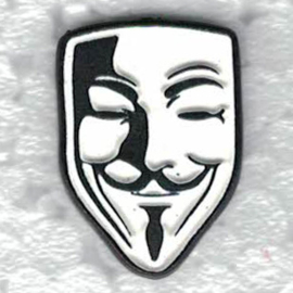 PIN - V for VENDETTA MASK - Guy Fawkes - Remember Remember ..
