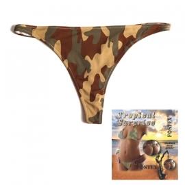 Bikini Thong/String - Tropical Surpirse - Woodland Camouflage