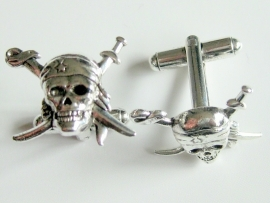 Cufflinks - Pirate Skull - Crosssed Swords