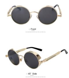 Rebel Sunglasses - Steampunk - Black & Gold