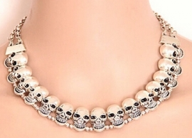Vintage Smiling Skull double-attached - Choker