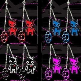 Kitty & KnuckleDuster earrings