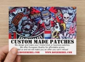 Large BackPatch 8-pack (your design, your text and your colors)