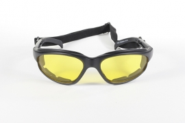 KICKSTART by KD's - FREEDOM - Wrap-Style Padded Sunglasses - Yellow