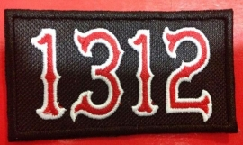 083 - PATCH - 1312 - Red & White Numbres ACAB