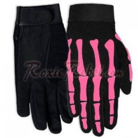 Mechanic Gloves - Pink Skeleton (only XS and S)