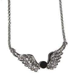 Winged Black Stone necklace