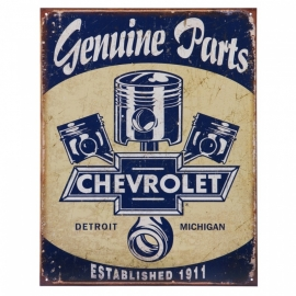 Large Metal Plate - Chevrolet - GENUINE PARTS - Chevy