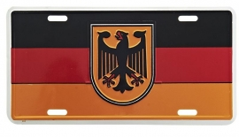 License Metal Plate / Tin Sign -  German Flag with Eagle - Germany