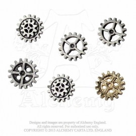 Alchemy England - Shirt BUTTONS - Steampunk - Gear Wheels
