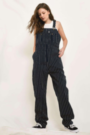 Dickies - Moneta Bib Overall - Dark Blue, White Striped