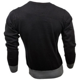 Jack Daniel's - Knitted Sweater - Black - Original Big Classic Logo