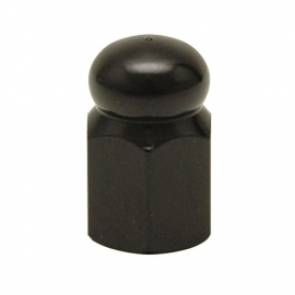 TrikTopz - Valve Caps - Black Alloy Hex Domed